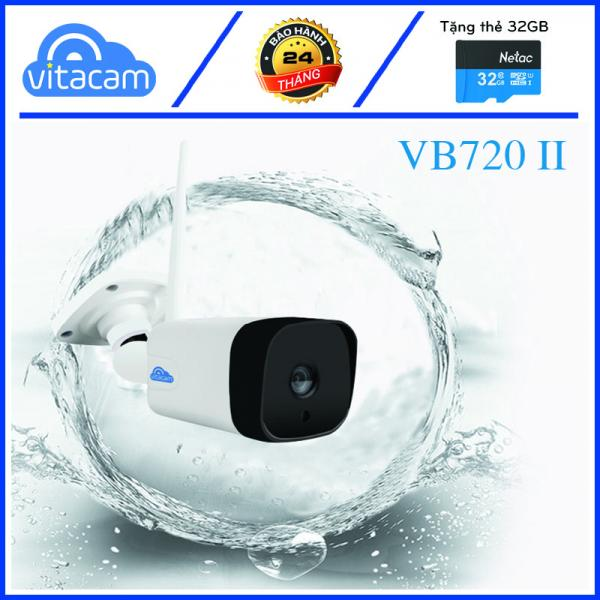 CAMERA IP NGOÀI TRỜI VITACAM VB720II - 1.0MPX HD 720P - CÓ LOA MICRO ĐÀM THOẠI, GHI ÂM, CHỐNG NƯỚC CHẤT LƯỢNG CAO.