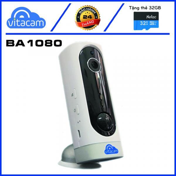 VITACAM BA1080 - CAMERA THÔNG MINH TÍCH HỢP PIN - FULLHD 1080 - GÓC RỘNG 130 ĐỘ