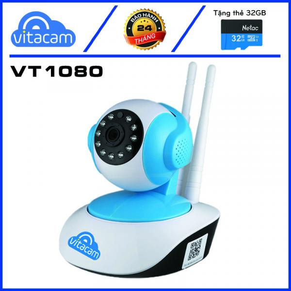 Vitacam VT1080 - Camera Ip Wifi 1080P - 2.0Mpx Full HD - Xoay 355 độ, đàm thoại 2 chiều