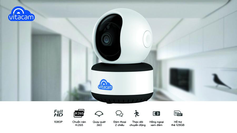 Camera thông minh Vitacam C1080 2Mpx – Công Nghệ AI