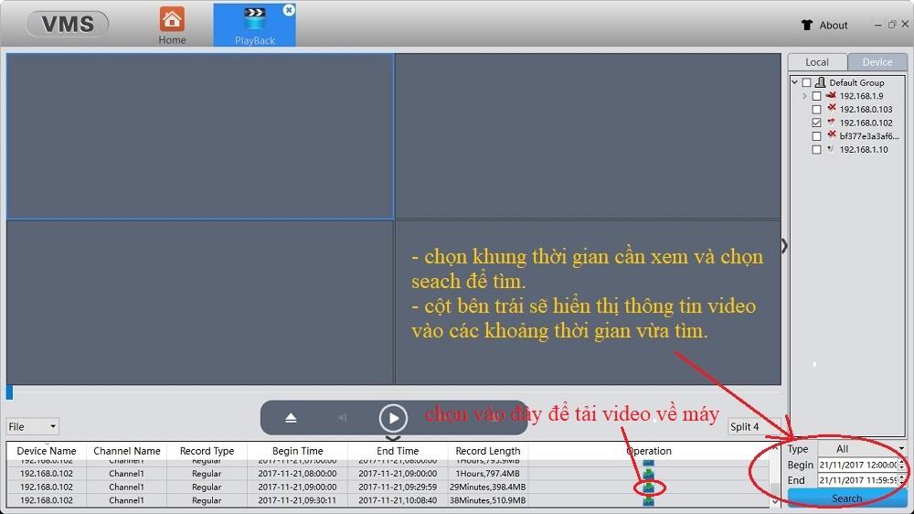 Hướng dẫn xem và xuất video trên thẻ nhớ của camera Vitacam (không tháo thẻ )